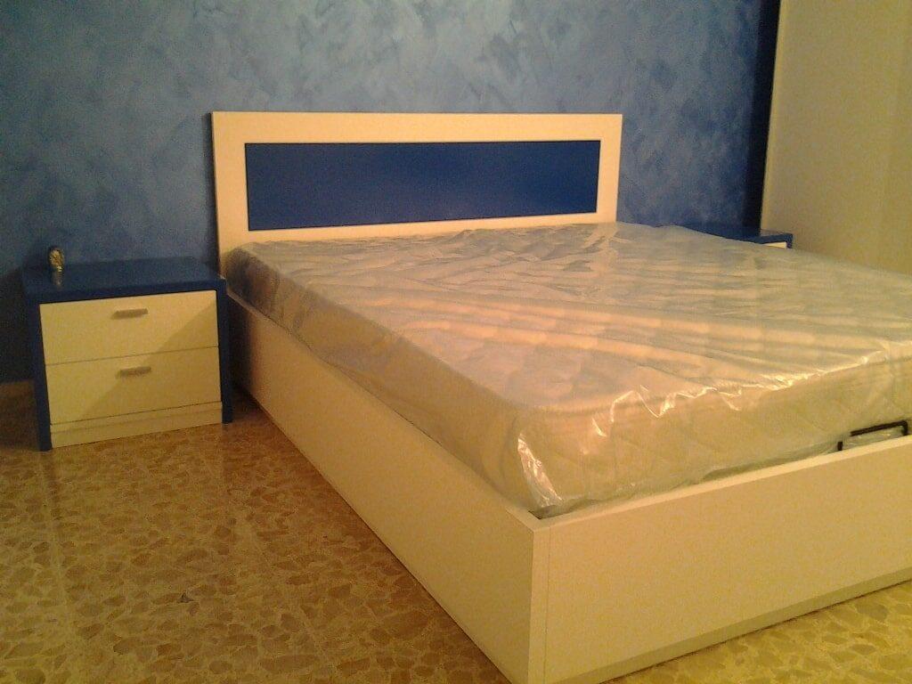 letto design essenziale - Bianco (2)
